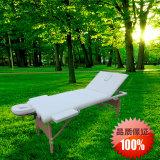 더 길고 더 넓은 백레스트 나무로 되는 안마 침대