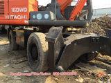 Máquinas escavadoras usadas da roda de Hitachi Ex160wd da roda