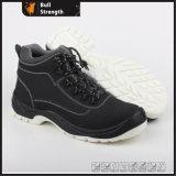 Черная обувь Sn5275 безопасности крышки пальца ноги Nubuck кожаный стальная