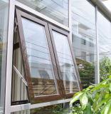 Marco colgado superior de aluminio revestido Windows del polvo gris con la doble vidriera (CL-1023)