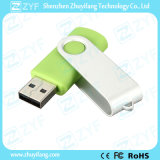 Салатовый привод USB пластмассы 16GB закрутки металла (ZYF1822)