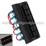 PWB LED Rocker Switch Panel Waterproof Switch RV-Car Boat Marine 12V 24V