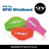RFID Hfの防水リスト・ストラップの復旦F08 ISO14443Aのシリコーン