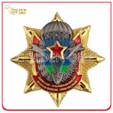 Distintivo personalizzato della polizia del metallo placcato oro per il funzionario di sicurezza privato