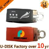 Silkscreen/gravado/inventando USB feito sob encomenda Pendrive do couro do logotipo (YT-5101L)