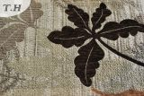Silver Backing with Dark Leaves Tissu jacquard en chinois