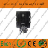 15W LED Work Light, 10-30V CC LED Work Light con 1275lm, Spot/Flood Beam, 5PCS x 3W Epsitar LED per Trucks, LED Work Light