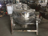Chaleira de cozimento industrial de cozimento Jacketed da chaleira do vapor de 500 litros