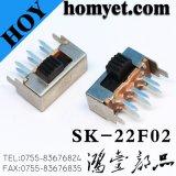 高品質のすくいの側面押しマイクロスイッチまたはスライドスイッチ6pinsトグルスイッチ(SK-22F01G3)