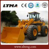 大きい容量の中国の構築機械装置の有名な6tローダー