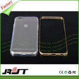 Алюминиевая крышка случая мобильного телефона бампера TPU прозрачная для iPhone 6/6s
