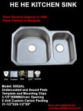 부엌 Sink, Sink, Stainless Steel Kitchen Sink 8052al (70/30), Handmade Sink.