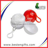 Poncho descartável na esfera, Raincoat de dobramento plástico da chuva, esfera barata do Poncho da chuva