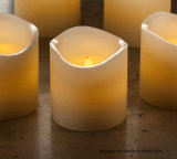 Timer Yellow Flameless LightsのLED Candle Manufacturing