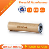 Berge portative Charger 2200mAh de Wooden Power
