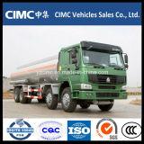 Carro del depósito de gasolina del carro de petrolero del transporte del petróleo de HOWO 8X4