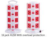 方法オーバーロードの保護装置が付いている携帯用イギリスUSBの壁のソケットのアウトレット