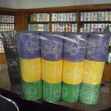 Essuie-main personnalisé par constructeur estampé de papier de soie de soie de salle de bains de rouleau de papier hygiénique