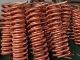 巻く銅のひれの管の熱交換器