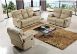 Sofá del cuero genuino de la sala de estar (C767)