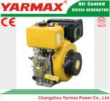 Yarmax手の開始空気によって冷却される単一シリンダー418cc 5.7/6.3kw 7.8/8.6HP海洋のディーゼル機関Ym186fa
