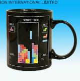 Color sensible al calor frío caliente que cambia la taza de café de cerámica de la batería