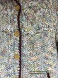 Cardigan lavorato a maglia struttura del maglione dei capretti per le ragazze