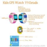 O relógio do perseguidor do GPS dos miúdos com GPS+Lbs Dual a posição (Y9)