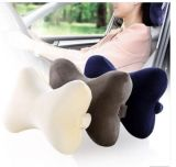 Usine Directly Supply Cheap Bone Shape Memory Foam Car Neck Pillow et Headrest