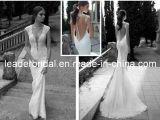 Blosse Spitze-Hochzeits-Kleid-Schutzkappe Sleeves Berta Brautkleider A01