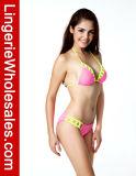 Se iluminan las señoras del entrecruzamiento de Rejas Recorte vendaje cabestro bikini
