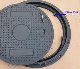 나사 자물쇠를 가진 플라스틱 HDPE 맨홀 뚜껑