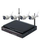 Kit sin hilos de WiFi NVR de la vigilancia de la cámara del registrador HD WiFi de la seguridad