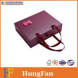 Rectángulo de empaquetado de papel plegable de sellado caliente modificado para requisitos particulares del regalo del cajón