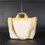 Recicl o saco Foldable da lona do algodão da compra do punho
