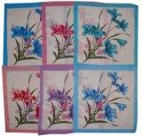 Mouchoir 100% imprimé par fleur de qualité de coton/mouchoir de dames