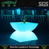 Color de Leadersun que cambia la tabla de té impermeable del plástico LED