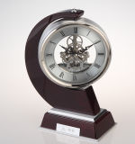 Horloge classique de bureau et de Tableau, horloge en bois élégante de bureau