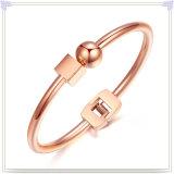 方法ブレスレットの方法宝石類のステンレス鋼の腕輪(BR1027)