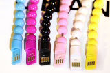Câble de remplissage de bracelet de caractéristiques de téléphone mobile mignon acrylique de câble