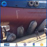 Bateau lançant les sacs à air en caoutchouc marins pneumatiques