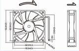 ventilador de la C.C. de 12V 24V 92X92X25m m para la soldadora