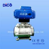 Vávula de bola eléctrica de control de Ss304 3PC 4-20mh