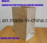 Quadratische Unterseite oder v-unterer Papierbeutel, der Maschine herstellt