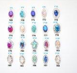 2017 a arte de cristal do prego da liga dos Rhinestones metálicos brilhantes 3D derruba decorações