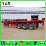 40FT 3 rimorchio a base piatta del camion della base piana del rimorchio del contenitore degli assi 12.5m