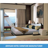 Mobília de couro de madeira do quarto do hotel à moda o mais atrasado (SY-BS205)