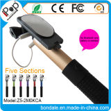 Extensible Handheld Monopod Audio Cable Wired Selfie Stick para Smartphone