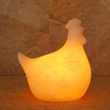 بطّاريّة يشغل بارافين دجاجة حيوانيّ زخرفة [لد] شمعة
