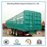 3 Ejes Blue Box Truck Remolque de Semirremolque de Carga